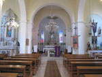 The interior of the church of St. George - a view at all three altars